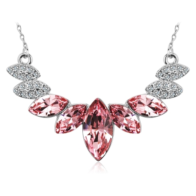Elegant Pink Swarovski Necklace JEWELRY