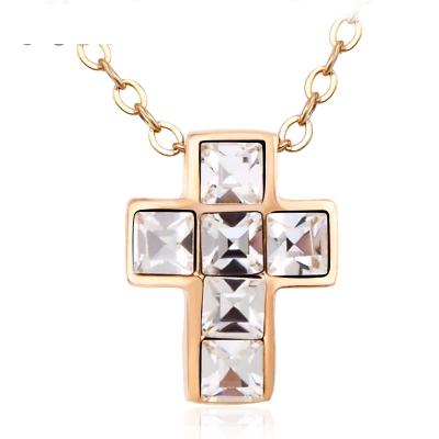 Cross Necklace with Swarovski Crystal JEWELRY