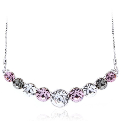 Cute Pink Swarovski Necklace for Party JEWELRY