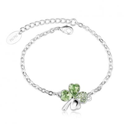 Clover Bracelet with Swarovski Crystal / Colors JEWELRY