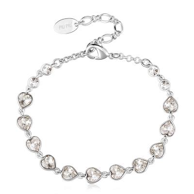 Swarovski White Hearts Bracelet JEWELRY