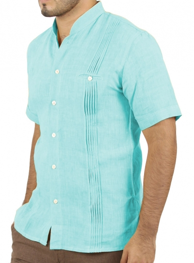 Aqua Linen Short Sleeve Shirt SHIRTS