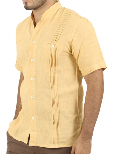 Casual Yellow Linen Shirt SHIRTS