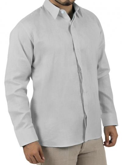 Basic Grey Shirt 100% Linen SHIRTS