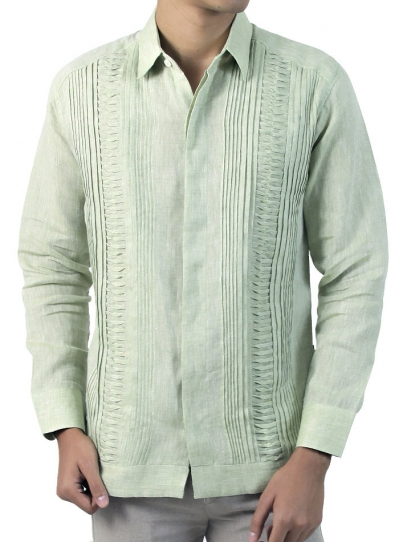 Green Long Sleeve Guayabera GUAYABERAS
