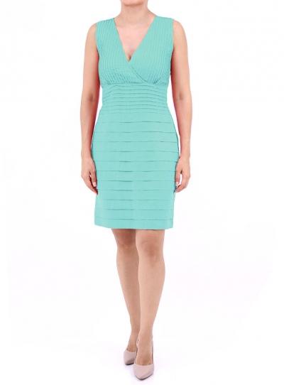 Vestido color Aqua de Lino 100% VESTIDOS