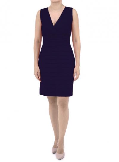 Navy Blue Linen Dress DRESSES