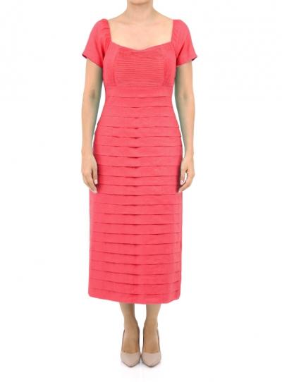 Vestido Largo color Coral VESTIDOS