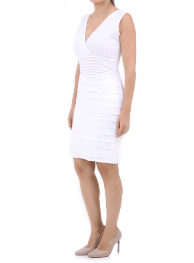 Fresh And Cute Dress In White Made With 100% High Quality Linen DRESSES