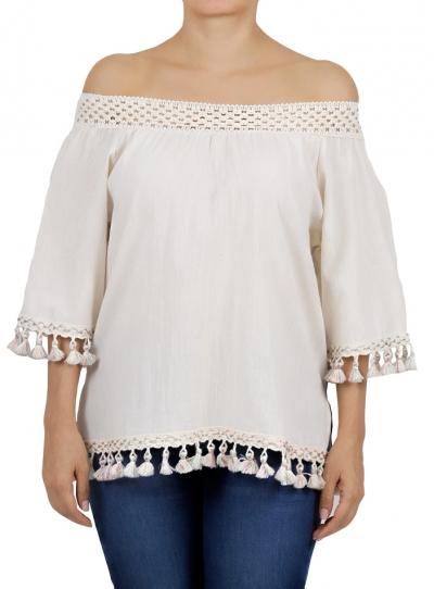 Cotton Shoulder Down Top TOPS