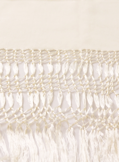 Scarve of 3 Knots Pearl color SHAWLS & SCARVES