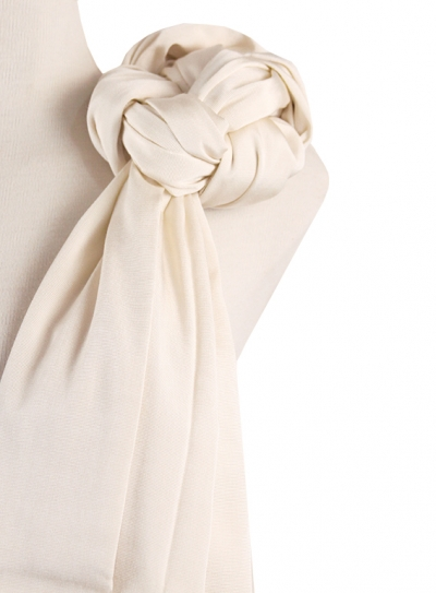 Scarve with tip Santa Maria color Pearl SHAWLS & SCARVES