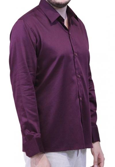Burgundy Egyptian Cotton Formal Shirt SHIRTS