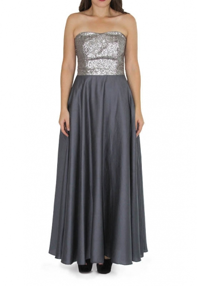 Sequined Egyptian Cotton Maxi Dress DRESSES