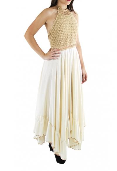 Vestido de Crochet Algodon Hecho a Mano VESTIDOS