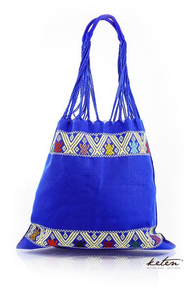 Bolsa de Telar de Cintura Color Azul Hecho a Mano BOLSAS & CARTERAS