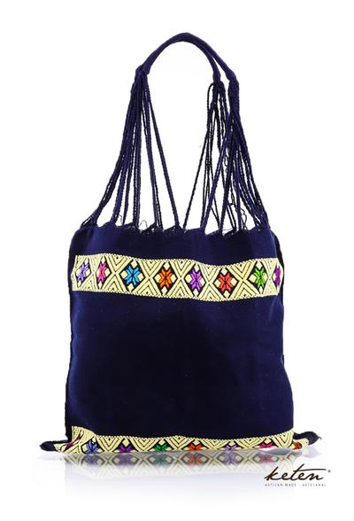 Dark Blue Waist Loom Embroidered Hand Bag BAGS & POUCHES