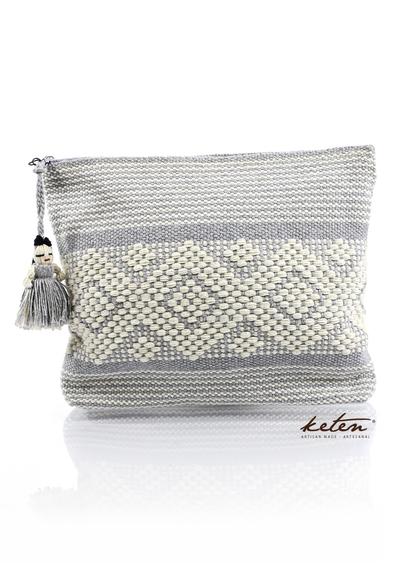 Gray Handmade Waist Loom Pouch BAGS & POUCHES