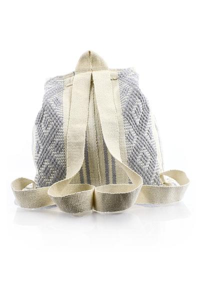Waist Loom Blue Beige HandMade Backpack BAGS & POUCHES