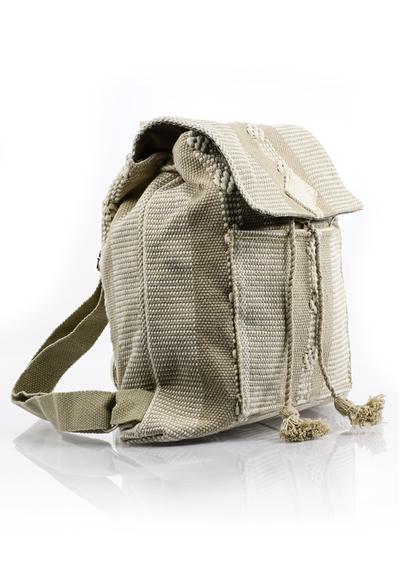 Boho Folkart Waist Loom Beige Backpack HandMade BAGS & POUCHES
