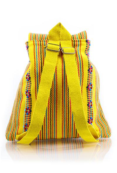 Mochila Amarilla Artesanal Telar de Cintura BOLSAS & CARTERAS