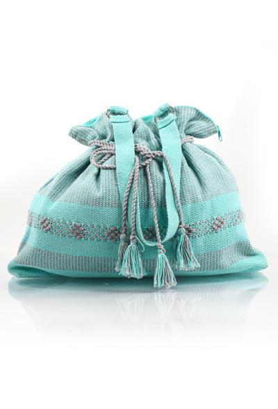 Handmade Aqua Color Waist Loom Handbag BAGS & POUCHES