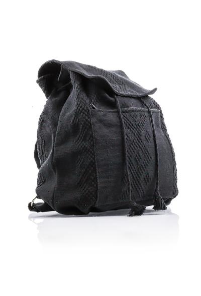 Mochila Telar de Cintura Hecho a Mano Color Negro BOLSAS & CARTERAS