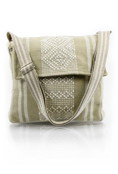 Beige Shoulder Strap Messenger Bag Hand Made BAGS & POUCHES