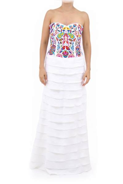 Divine Long Maxi Party Artisan Embroidery Dress DRESSES