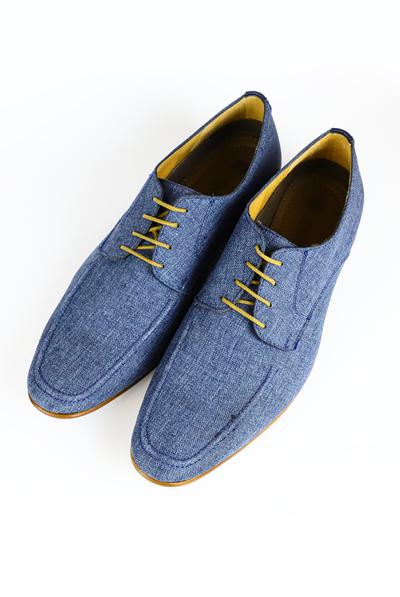 Zapatos De Lino Color Azul Marino ZAPATOS