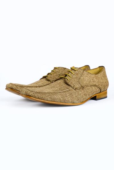 Brown Linen Shoes SHOES FOR MEN