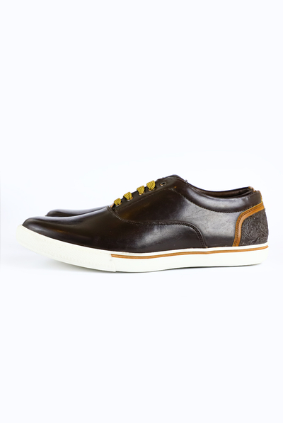 Casual Coffee Color Shoes with Ornamental Detail SHOES FOR MEN