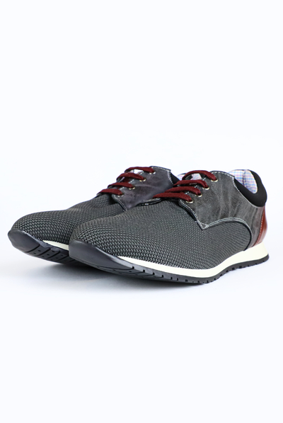 Gray Color Casual Tenis Shoes For Men SHOES FOR MEN
