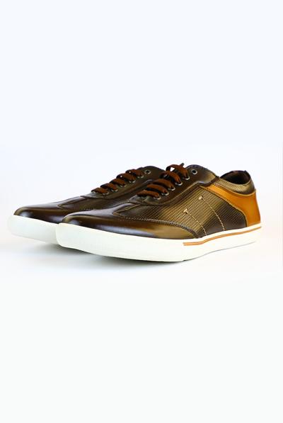 Zapatos Casuales Color Negro Con Cafe Para Caballero ZAPATOS