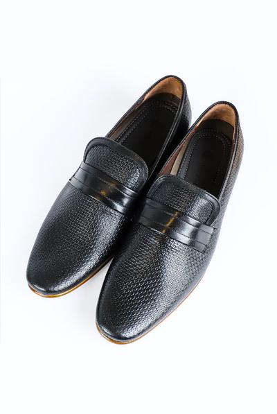 Black Color Leather Shoes For Men MEN