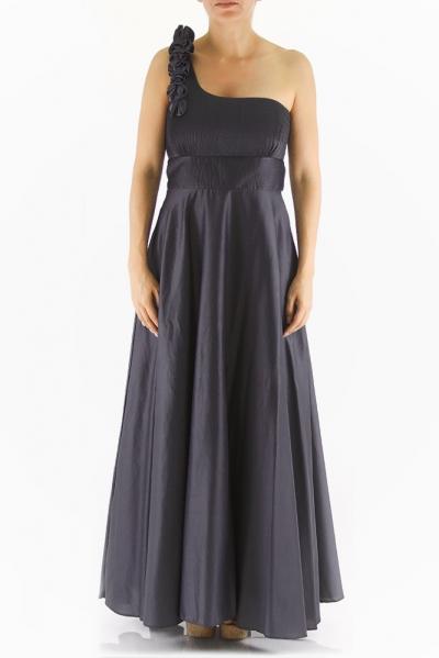 One-Shoulder Egyptian Cotton Cocktail Dress DRESSES