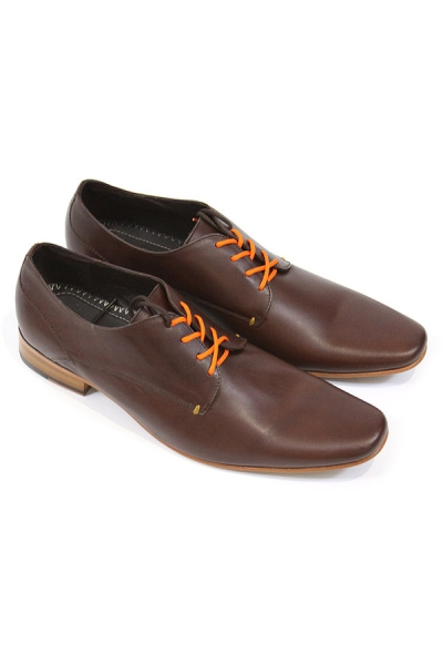 Handmade Cognac Leather Oxford Shoes SHOES