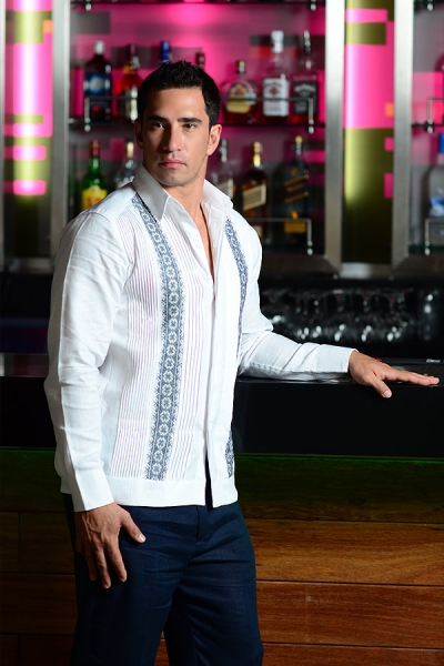 100% Irish Linen Hand Embroidered Guayabera GUAYABERAS