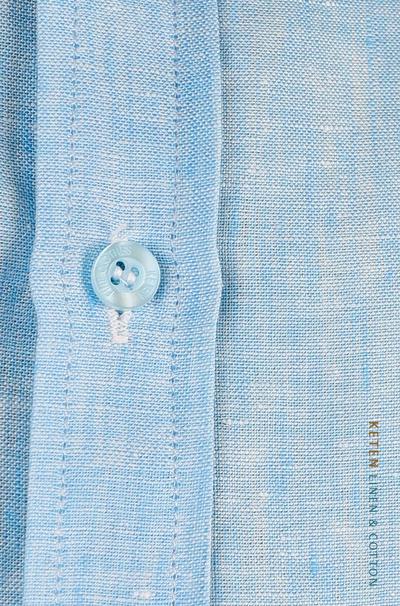 100% Linen Blue Color Shirt SHIRTS