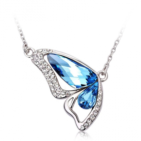 Collar Swarovski Mariposa Azul JOYERIA