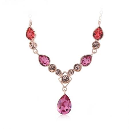 Collar de Cristal Swarovski en color Rosa JOYERIA