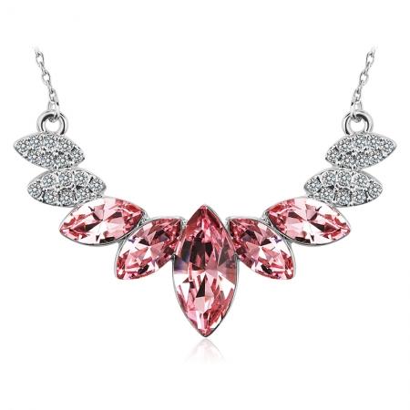 Elegante Collar de Swarovski color Rosa JOYERIA