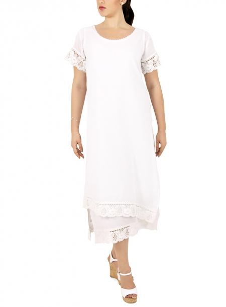 Vestido de Manta con Encaje VESTIDOS