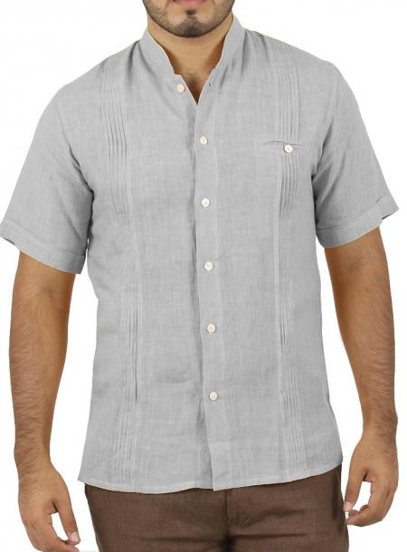 Camisa color Gris Manga Corta CAMISAS