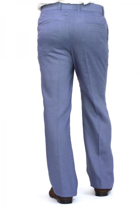 Pantalon de Lino Color Acero Plumbago PANTALONES