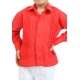 Red Guayabera with Tucks (Kids) GUAYABERAS