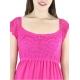 Vestido de Algodon Crochet a Mano Color Fucsia Rosa VESTIDOS