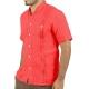 Coral Linen Short Sleeve Shirt SHIRTS