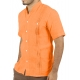 Camisa de Hombre color Naranja Manga Corta CAMISAS