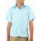 Camisa de Lino 100% Alforzas Para Niños Color Aqua CAMISAS